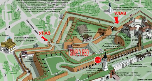mapa kalemegdana beograd Simply Red   Koncert tour
