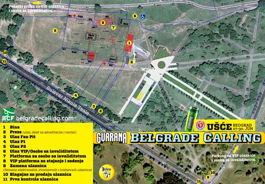 mapa beograda usce Beograd zove na Ušće   Mapa i Satnica 27 30. jun 2012. mapa beograda usce