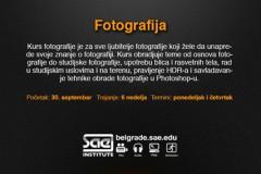 SAE INSTITUT BEOGRAD - KURS FOTOGRAFIJE Start: 30. septembar