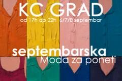 Septembarska Moda za poneti - 06-08. septembar @ 17h, KC Grad