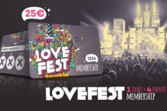 Lovefest 2015: Za hiljadu najbržih posetilaca Membership kartica samo 25e!