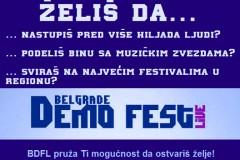 Otvoren je takmičarski konkurs za treće izdanje BELGRADE DEMO FEST LIVE!