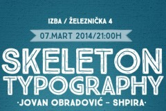 JOVAN OBRADOVIĆ SHPIRA: Izložba tipografskih radova SKELETON TYPOGRAFY!