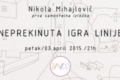 NEPREKINUTA IGRA LINIJE: Izložba crteža Nikole Mihajlovića!