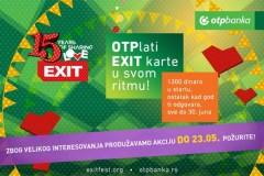 Akcija OTPlati EXIT ulaznicu na rate, produžena je do 23. maja!