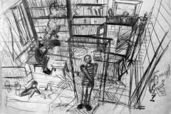 Jasmina Kalić: Izložba portreta u crtežu u galeriji FLU
