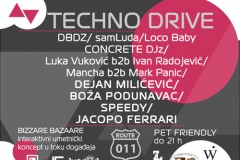 TECHNO DRIVE: 20 sati muzike i provoda!