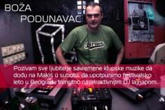 Boža Podunavac poziva sve ljubitelje klupske muzike da dođu na Makiš!