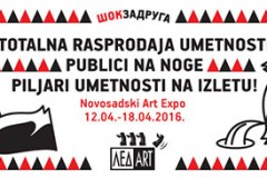 Šok Zadruga: Piljari umetnosti na Novosadskom sajmu Art Expo 2016