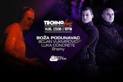 OPEN AIR TECHNO LOGIC: Boža Podunavac, Concrete i Sharky u KPTM-u