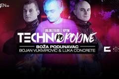 TECHNO POPODNE: Boža Podunavac, Luka Concrete i Bojan Vukmirović u KPTM-u