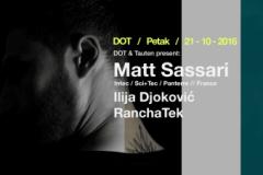 Matt Sassari ovog petka u klubu DOT