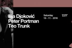 Ilija Djoković, Peter Portman i Teo Trunk ove subote u klubu DOT