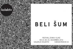 BELI ŠUM: Festival zvuka i slike u Galeriji Kolektiv