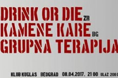 Pank svirka: Drink or Die, Grupna Terapija i Kamene Kare prave buku u Kuglašu