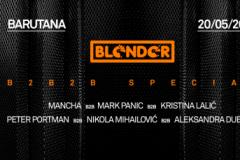 Blender i Barutana spremaju triple b2b specijal ove subote