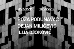 Tri generacije domaće elektronske scene: Boža Podunavac, Dejan Milićević i Ilija Djoković 16. juna u Barutani