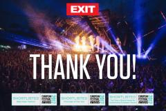 Izašla finalna lista: EXIT izglasan među najbolje festivale i organizatore u Evropi!