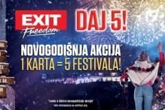 EXIT spremio najveći novogodišnji poklon: Pet festivala po ceni jednog!