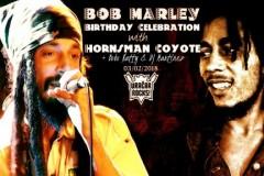 BOB MARLEYS DAY: Hornsman Coyote,  Bobo Natty i DJ Martinez  u Božidarcu