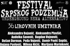 FESTIVAL SRPSKOG PODZEMLJA - IV: Poznata satnica i imena likovnih umetnika