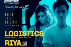 Roll the Drums presents: Logistics / Riya live!