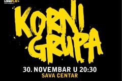 Povratnički koncert Korni grupe 30. novembra u Sava centru