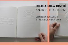 """Izložba """"Knjige tekstura"""" Milice Mile Ristić"""