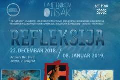 "Umetnikov otisak predstavlja izložbu ""Refleksije 2018."""