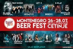 Prvi Montenegro Beer Fest na Cetinju - više od 23 sata besplatnog muzičkog programa od 26-28. jula