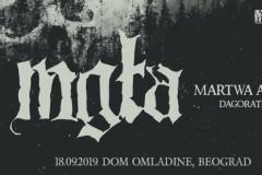 MM Concerts i Serbian Hellbangers predstavljaju: Mgła / Martwa Aura / Dagorath