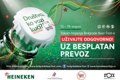 Besplatan gradski prevoz do Belgrade Beer Festa i nazad