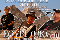 Britanski bluz rok spektakl sa bendom EGYPT(UK) u Beogradu