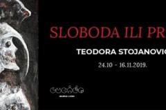 """Otvaranje izložbe """"Sloboda ili privid"""" Teodore Stojanović"""