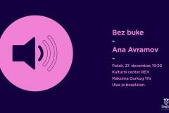Bez buke: Ana Avramov