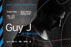 Guy J all night long, ekskluzivno za beogradsku publiku, ovog leta u Barutani