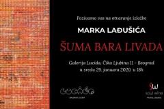 """Otvaranje izložbe """" Šuma bara livada"""" Marka Lađušića, u galeriji Lucida"""