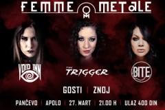 Prvi FEMME METALE festival 27.marta u Pančevu!