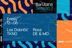 Lokalni techno i progressive house izvođači nastupiće u okviru drugog vikenda sedme sezone Barutane
