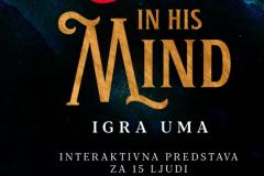 Zbog epidemiološke situacije interaktivna predstava In his Mind (Igra uma) se neće igrati naredne dve nedelje