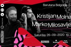 Muzička selekcija Kristijana Molnara i Marka Milosavljevića, za kraj septembra u Barutani
