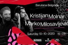 Muzička selekcija Kristijana Molnara i Marka Milosavljevića, ove subote u Barutani