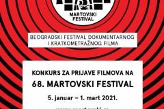 Otvoren konkurs za prijave filmova na 68. Martovski festival
