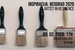 Artist in Residence u KC Gradu: Izložba Inspiracija Beograd 2020.