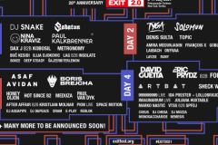 20 novih imena za proslavu 20 godina EXIT festivala!