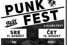"""Punk Fest u klubu Fest!"" od 11. do 14.avgusta"