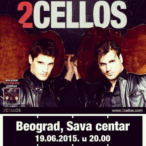 Virtouzi na violončelima 2 CELLOS stižu u Beograd!   Koncert   Luka Šulić & Stjepan Hauer   2015