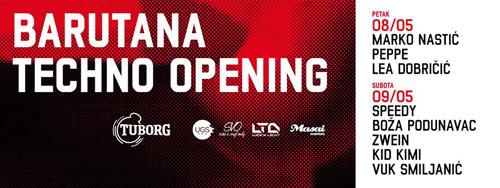 Ponovo radi BARUTANA: Veliki techno vikend otvaranja 8. I 9. maja! | 2015 | Beograd