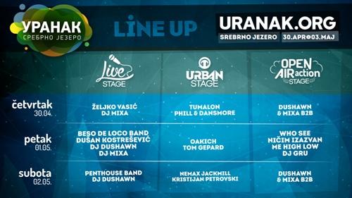 Drugi muzički URANAK na Srebrnom jezeru raste za još jednu binu!   Line Up   Srebrno jezero   2015
