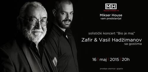 Zafir i Vasil Hadzimanov: Solistički koncert BIO JE MAJ   Foto by Milan Josipović   Mikser House   Beograd   2015